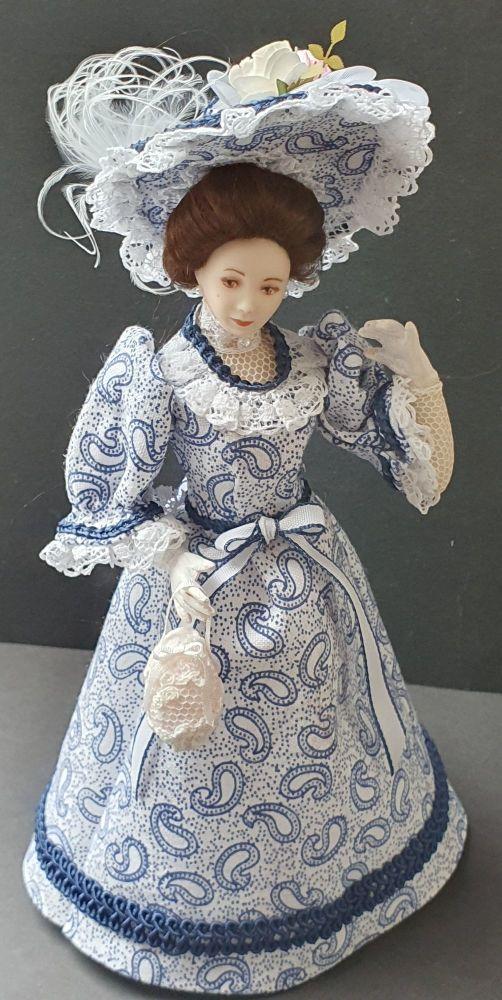 Blue Paisley Walking Dress