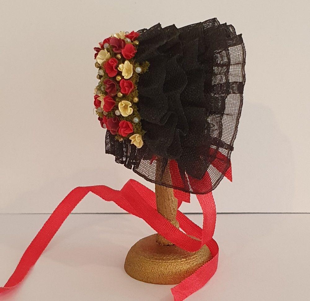 Victorian Bonnet Black