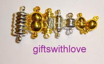 Pack of 5 Gold and Silver plated Magnetic clasps