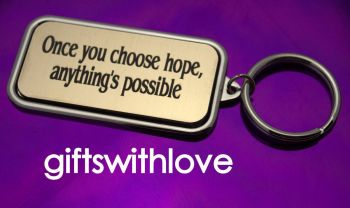 Silver Plated Keyring with words of encouragement