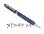 Metallic Blue Ballpoint Pen - FREE ENGRAVING