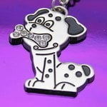 Silver Plated Dog Keyring - Free Engraving