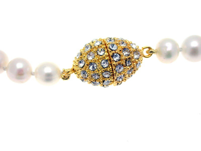Extra Large Gold Plated Magnetic Rhinestone Clasp