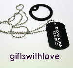 Black Military Style Army Dog Tag - Free Laser Engraving