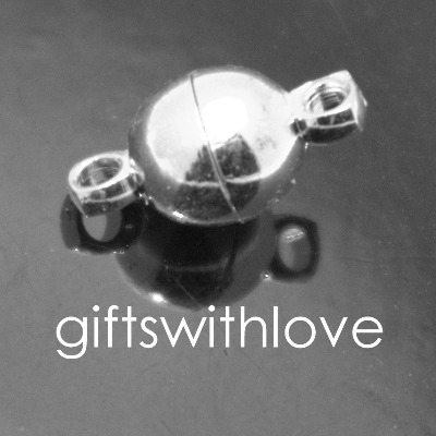 Pack of 5 small Silver Plated Ball Magnetic clasps