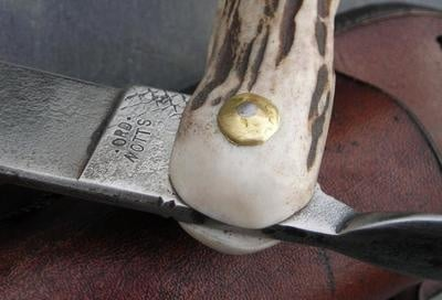 Piemontaise folding antler knife