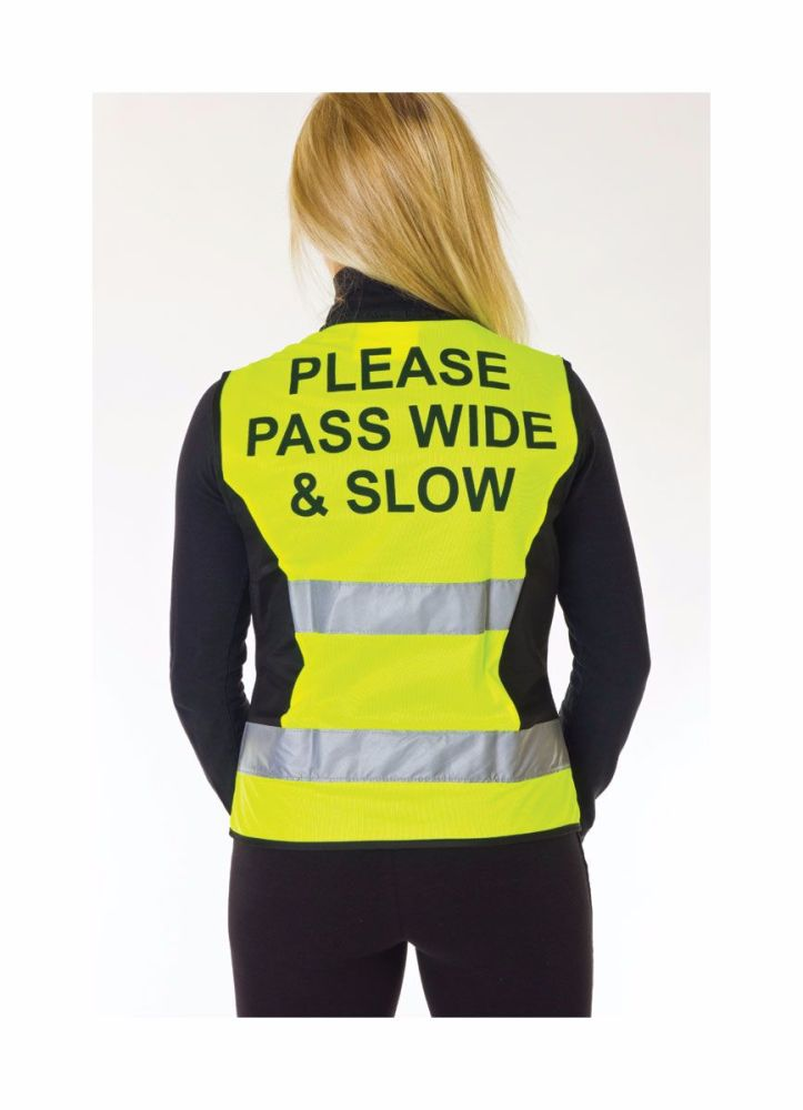 HyViz Adjustable Tabard - Please Pass wide And Slow