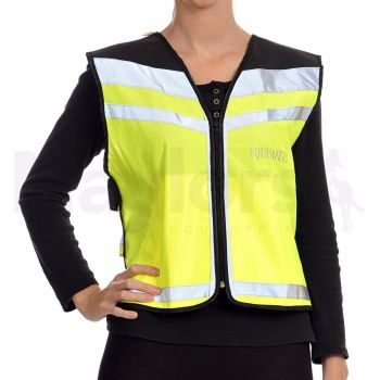 Equisafety Air Waistcoat - Please Pass Wide And Slow - Yellow