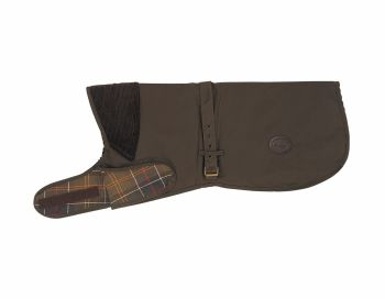 Barbour Waxed Cotton Dog Coat Olive