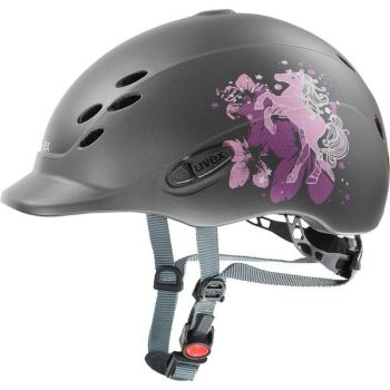 Uvex Onyxx Pony Anthracite Children's Riding Hat