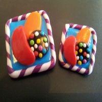 Candy Crush Saga Inspired Badge / Brooch