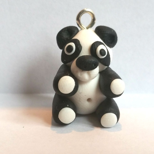 'Ping Pong' Panda Polymer Clay Bead / Charm Price From: