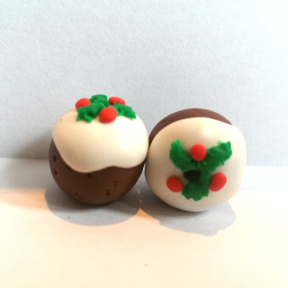 Christmas Pudding Polymer Clay Bead / Charm Price From: