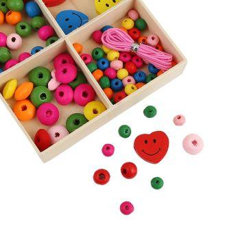 Heart Wooden Bead Kit