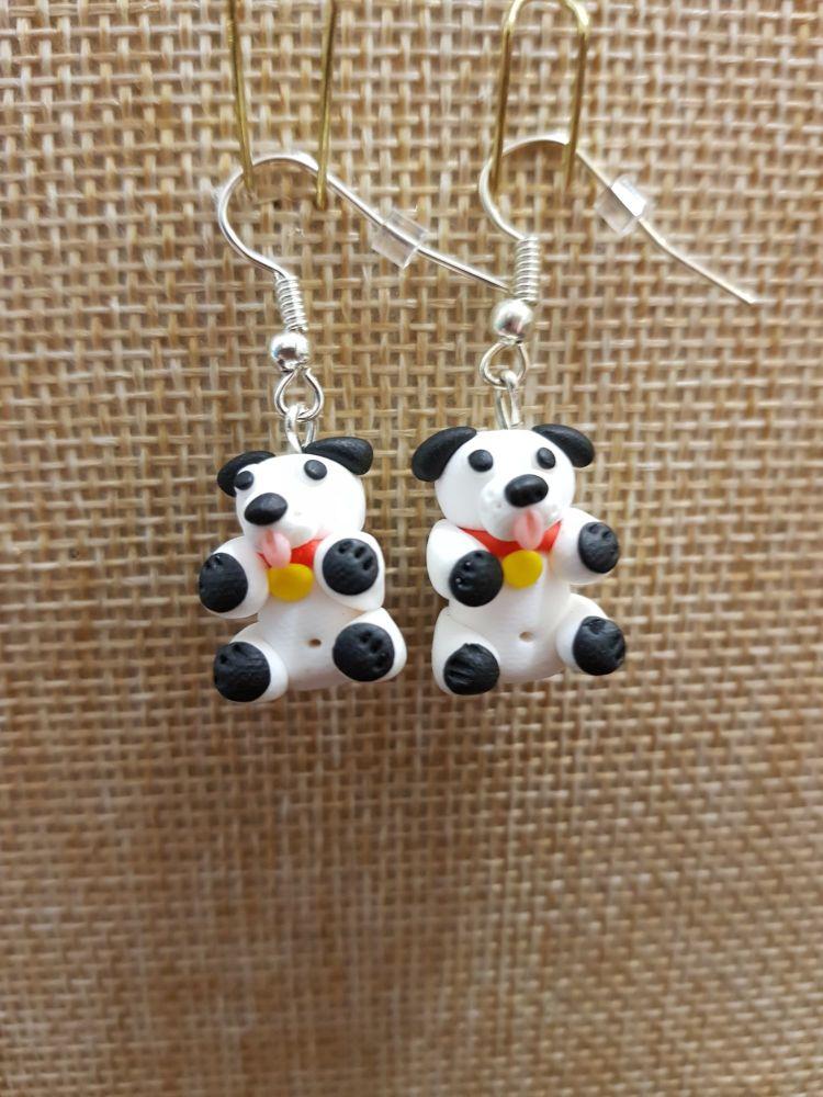 Black & White Dog Earrings