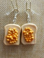 Baked Beans on Toast Earrings