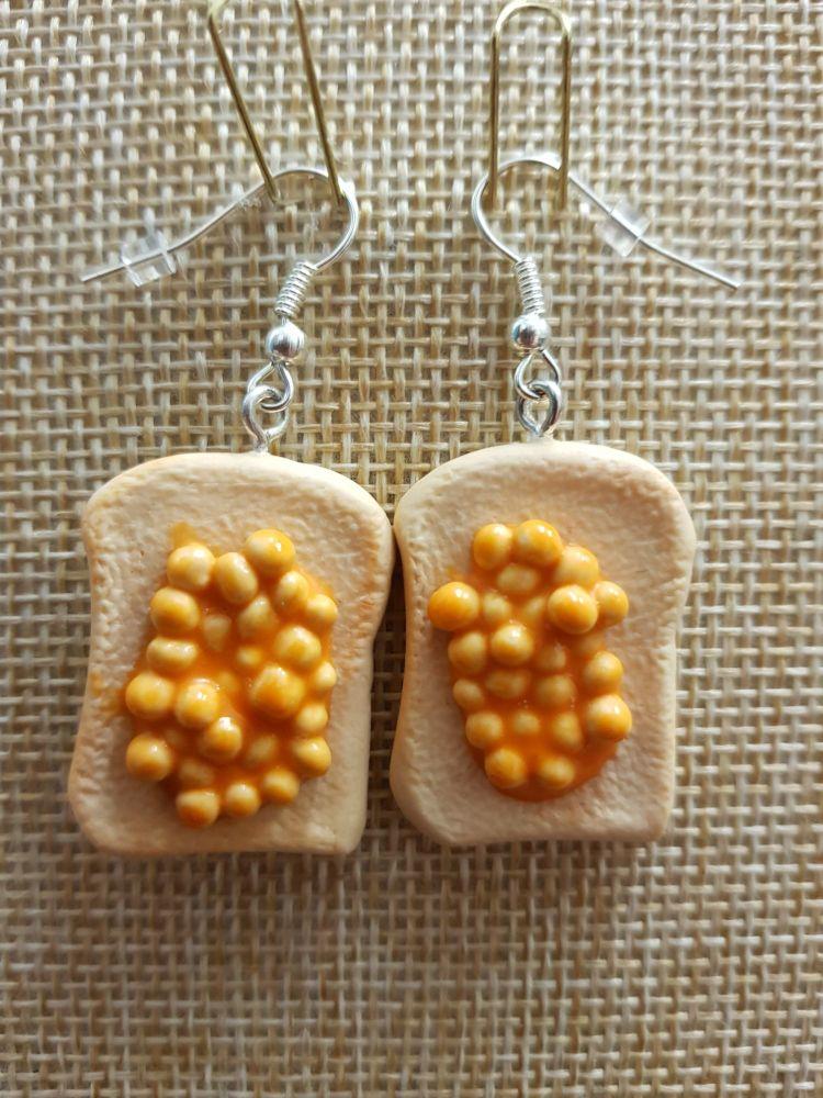 Baked Beans on Toast Earrings