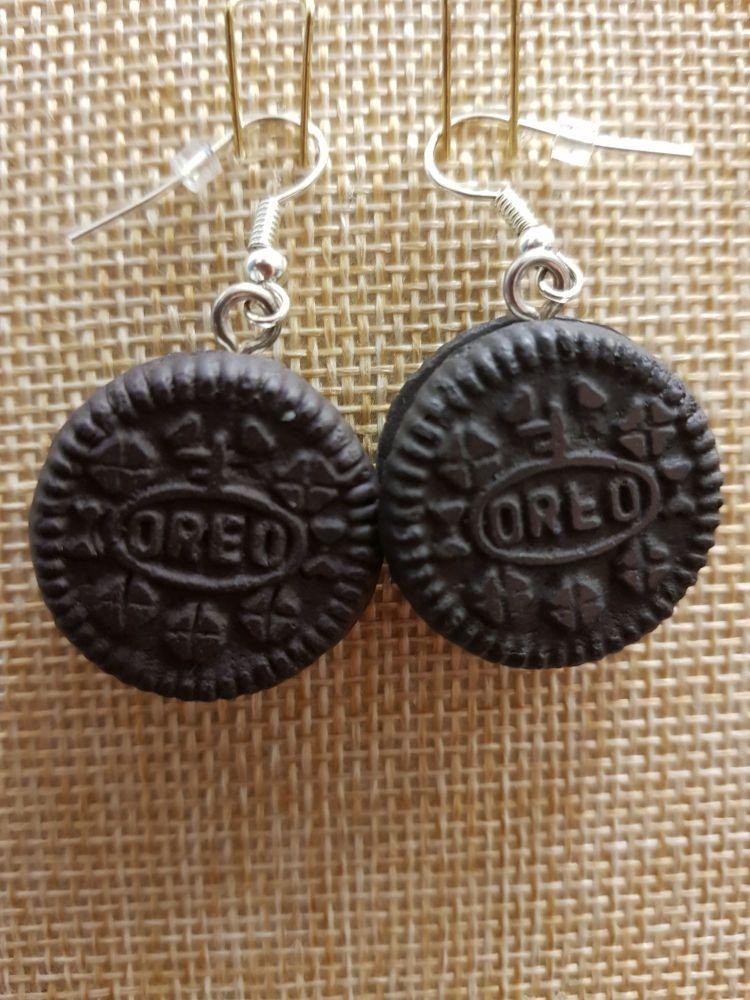 Oreo Inspired Earrings