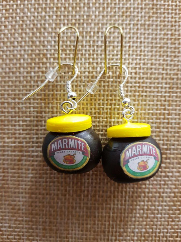 Marmite Inspired Earrings