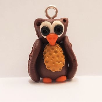 Owl Polymer Clay Bead / Charm Price From: