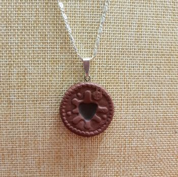 Chocolate Dodger Inspired Pendant Handmade