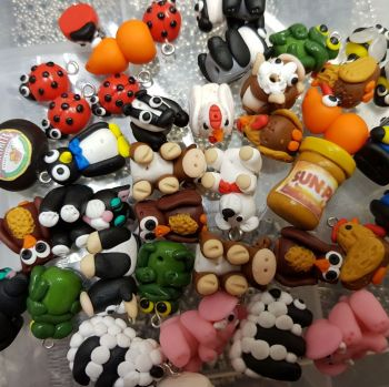 Mixed Pack of Polymer Clay Beads / Charms Price From: