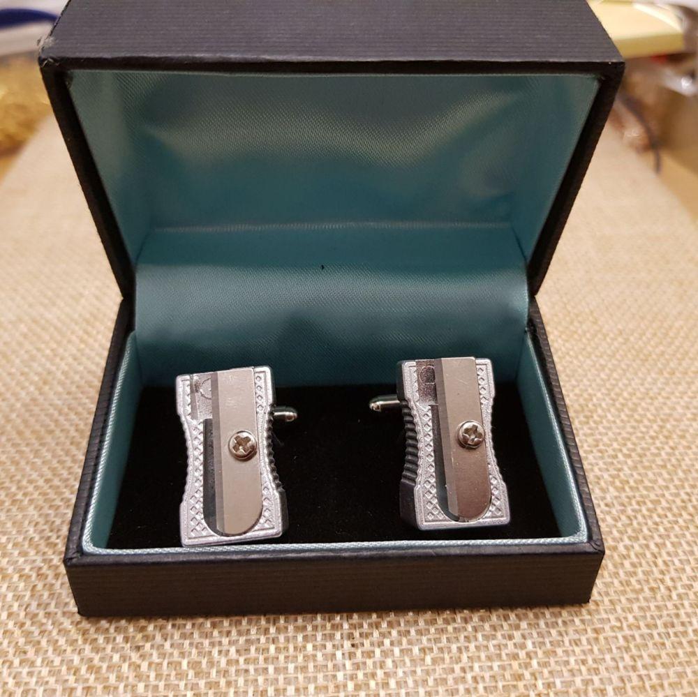 Pencil Sharpener Cufflinks