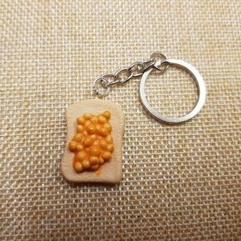 Beans on Toast Keyring