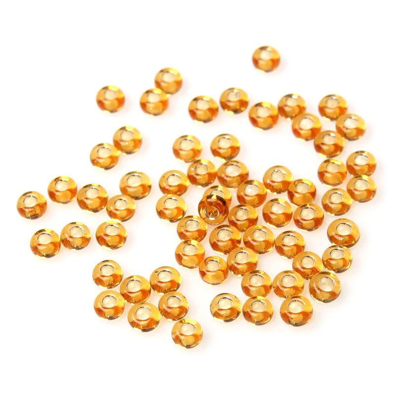 Glass Seed Beads - Ginger Foiled - Size10/0