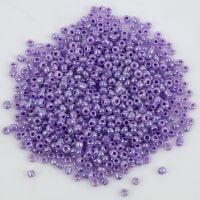Glass Seed Beads - Purple Pearlised - Size 10/0