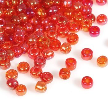 Glass Seed Beads - Red AB - Size 10/0
