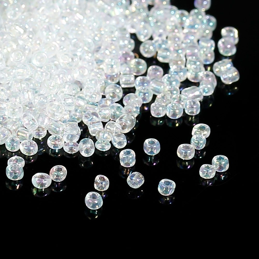 Glass Seed Beads - Translucent AB - Size 10/0