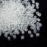Glass Seed Beads -White - Silver Lined - Size 10/0
