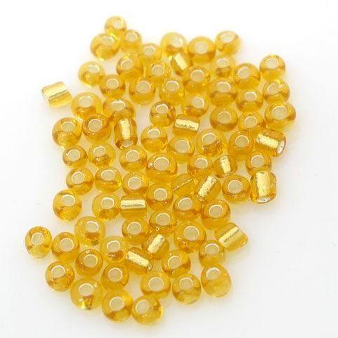 Glass Seed Beads - Smoke Yellow  - Size 10/0
