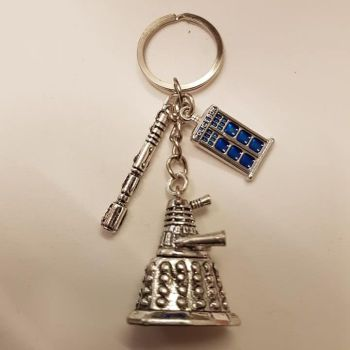 Doctor Who Inspired Key Ring / Bag Charm