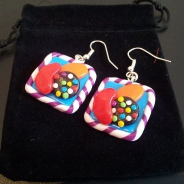 Candy Crush Saga Inspired Earrings