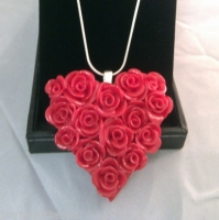 Beautiful Rose Heart Pendant