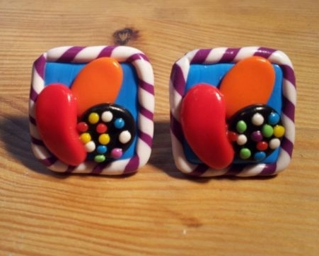 Candy Crush Saga Inspired Cufflinks
