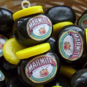 Marmite Bead / Charm 15 mm x 15 mm approx