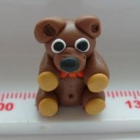 Teddy Bear Polymer Clay Bead / Charm Price From: