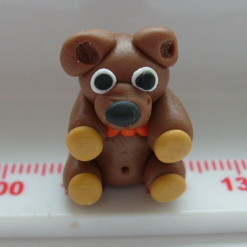 Teddy Bear Polymer Clay Bead / Charm Price From: