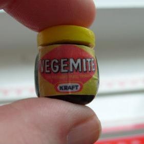 Vegemite Bead / Charm 15 mm x 15 mm approx