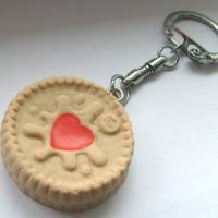 Jammie Dodger Biscuit Keyring