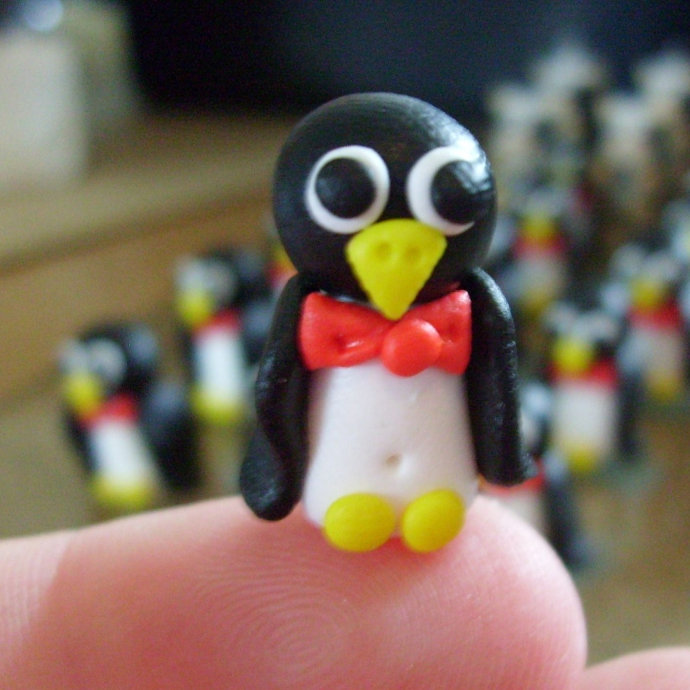 'Pedro' Penguin Polymer Clay Bead / Charm Price From: