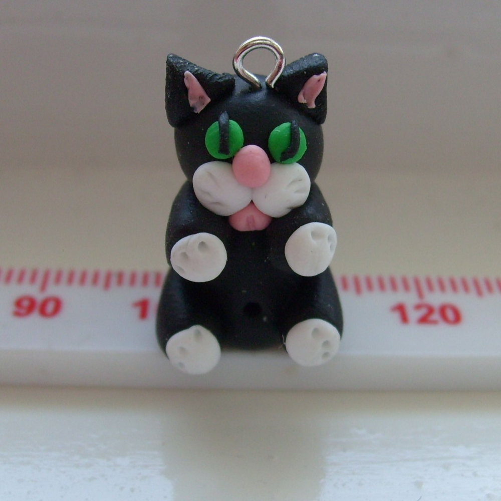 'Jasmine' Cat Polymer Clay Bead / Charm Price From:
