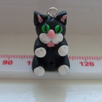 'Jasmine' Cat Polymer Clay Bead / Charm Price From: