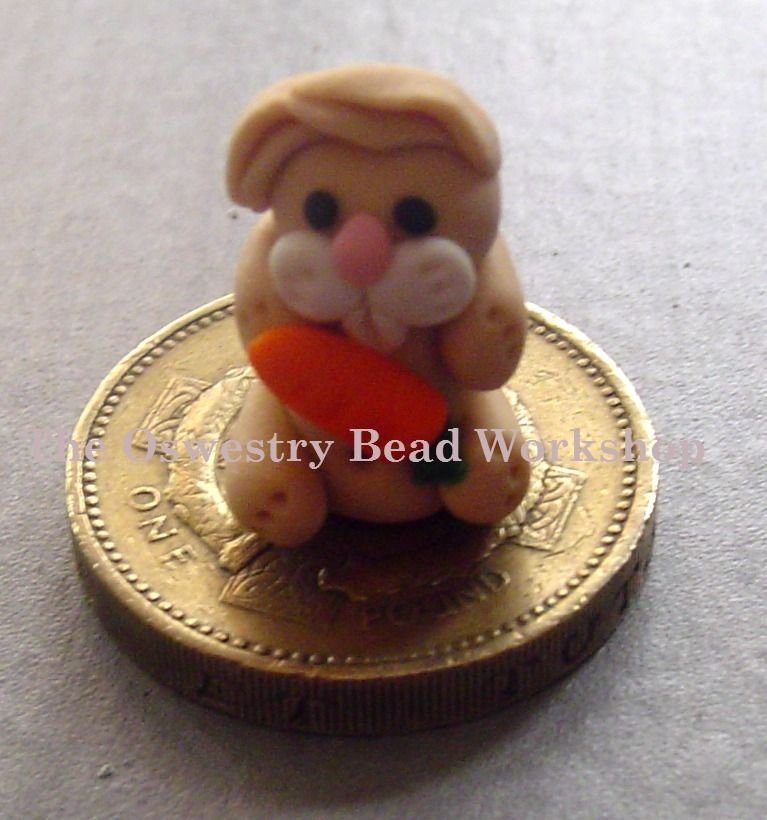 Rabbit With Carrot Polymer Clay Bead / Charm Price From: