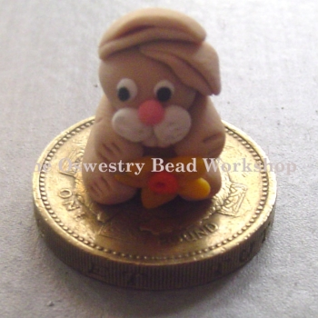 Rabbit With Daffodil Polymer Clay Bead / Charm Price From: