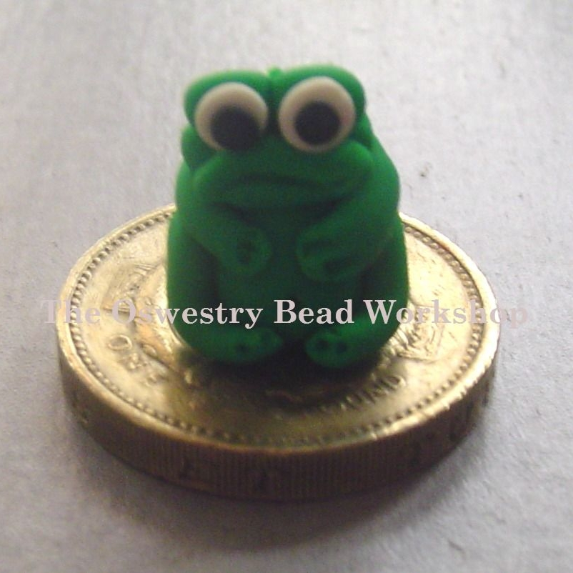 'Freddie' Frog Polymer Clay Bead / Charm Price From: