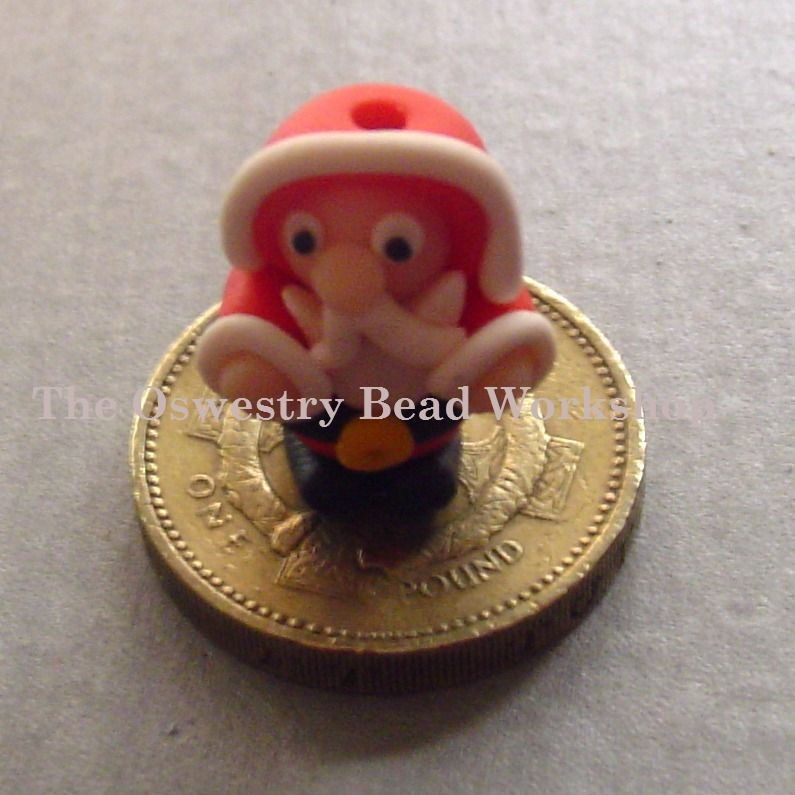 'Santa' Polymer Clay Bead / Charm Price From: